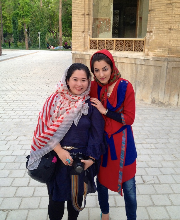 """I feel like a celebrity in Iran. Girls of different ages ask to have a photo with me. Some put their arms around me. Others kiss me on the cheek.  They come up to me and ask, """"Chi? (Are u from china?)""""  I reply, """"No, from the Philippines. My name is Brenda."""" Then they say, """"Oh Baranda!!!"""""""